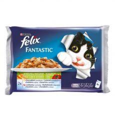 Kapsičky pre mačky FELIX - ryby so zeleninou v želé, 400 g