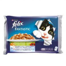 Kapsičky pre mačky FELIX - mäso so zeleninou v želé, 400 g