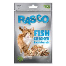 Pamlsky RASCO - špalíčky z rybieho a kuracieho mäsa, 80 g