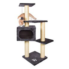 Škrabadlo pre mačky PALAMOS - plyšové, 109 cm