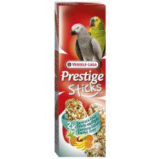 Tyčinky pre papagáje PRESTIGE STICKS 2 ks - exotické ovocie, 140g