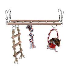 Rebrík pre drobné hlodavce - 29 x 25 x 9 cm
