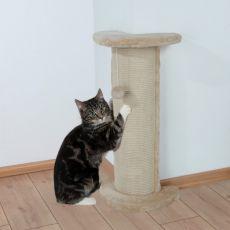 Škrabací stĺpik Lorca pre mačku, rohový s hračkou - 75cm