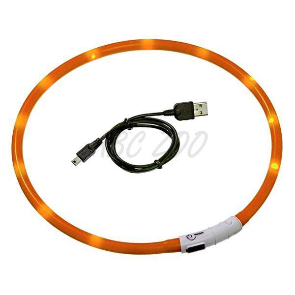 8e94809423 LED obojok pre psy DOG FANTASY - oranžový