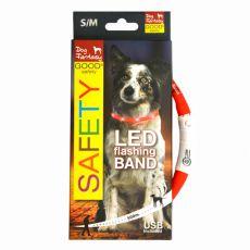 LED obojok pre psy DOG FANTASY - červený, 45 cm