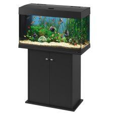 Ferplast DUBAI 80 ČIERNE akvárium - 125L + skrinka