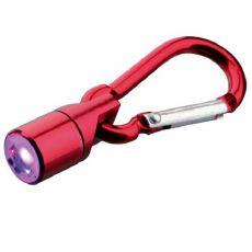 Blikač na obojok pre psa a mačku - červený, na baterky, 1 cm