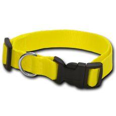 Obojok pre psa neon žltý - 2 x 33-51 cm