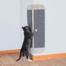 Škrabadlo pre mačky zo sisalu a plyšu, rohové - 32x60cm