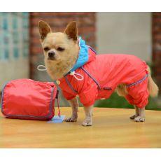 Pršiplášť pre psa v puzdre - ružový, XS