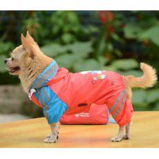 Pršiplášť so vzorom dáždnika pre psa - ružový, xs