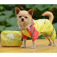 Pršiplášť so vzorom dievčatka pre psa - žltý, XS