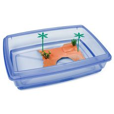 Bazén pre korytnačky - modrý - 43,5 x 34 x 11 cm