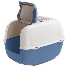 Toaleta pre mačky PRIMA CABRIO modrá - 44x40x36,5cm
