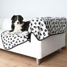 Obojstranná deka pre psov BENNY - čiernobiela, 150 x 100 cm
