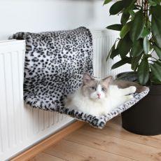 Pelech pre mačky na radiátor - leo, plyš, 58 x 30 x 38 cm