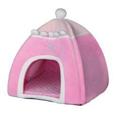 Pelech pre psy a mačky, Iglu Princess, ružový - 40 x 40 x 42 cm