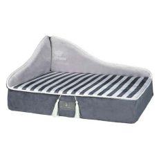 Pelech pre psy a mačky Prince sofa, sivý - 60 x 45 cm