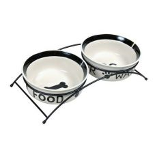 Dve keramické misky so stojanom - 2 x 2,6 l