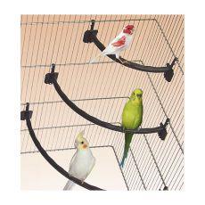 Bidlo pre vtáky plastové BIELE - 1,2 x 27 cm