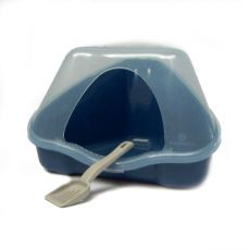Rohová toaleta s krytom NORA 1C modrá - 18 x 13 x 11 cm