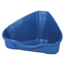 Rohová toaleta NORA 2 modrá - 30 x 24 x 19 cm