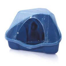 Rohová toaleta s krytom NORA 3C modrá - 50 x 34 x 32 cm