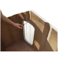Dvierka Porta 5 na búdu pre psa, plastové - 64 x 35,5 cm