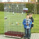 Klietka pre vtáky FEDRA 102 bordová - 102 x 54 x 177 cm