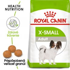ROYAL CANIN X-Small Adult granule pre dospelé trpaslíčie psy 1,5kg